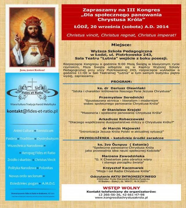 PLAKAT_20_09_2014 III Kongres 800
