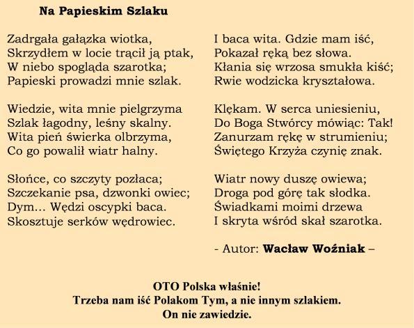 Papieskim_Szlakiem; Wacław Woźniak