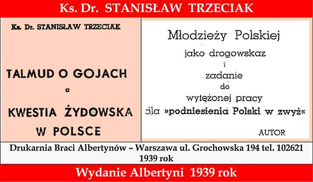 Baner Talmud_o_gojach_a_kwestia_zydowska_w_Polsce - Ks dr St Trzeciak 1939 rok 620 w