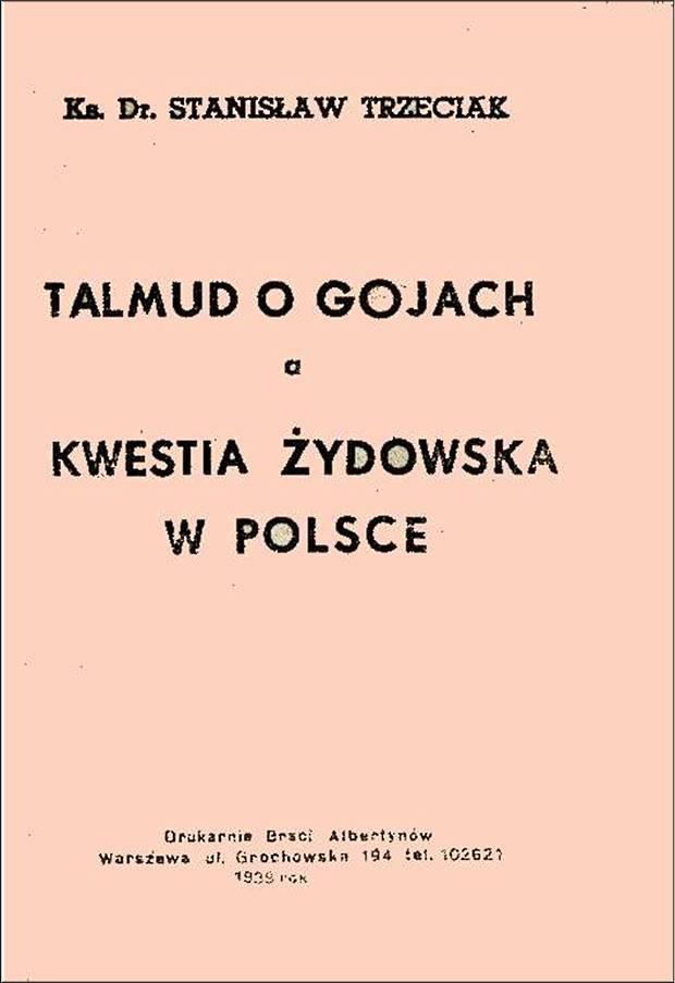 Talmud_o_gojach_a_kwestia_zydowska_w_Polsce - Ks dr St Trzeciak 1939 rok str_01 620 w